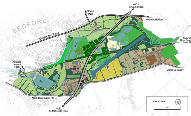 Future Map - Bedford River Valley Park : Bedford River Valley Park on