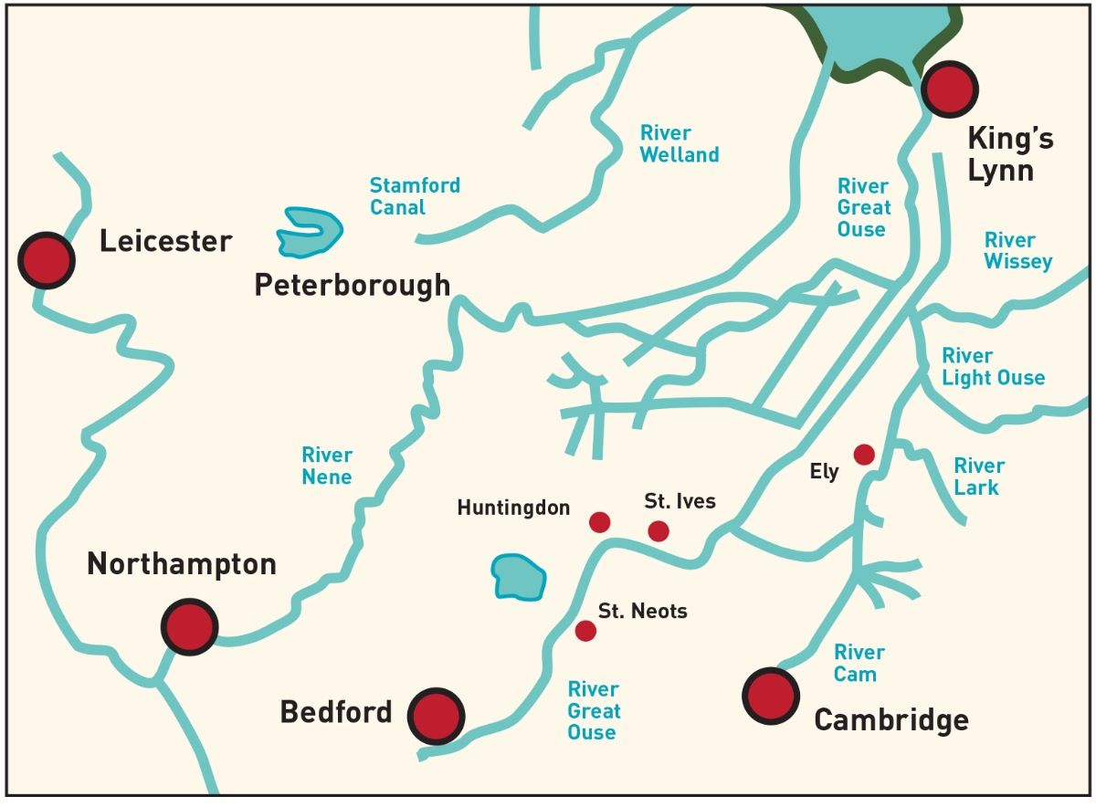 The River Ouse connected Bedford to other major rivers and towns as well as King's Lynn seaport, which handled coal from Newcastle.