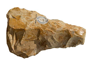 A Paleaolithic hand axe discovered in the gravels of Bedford River Valley Park.