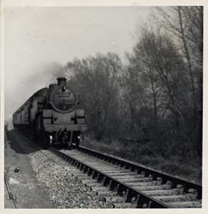 Steam trains once puffed through the Park on the Oxford to Cambridge line