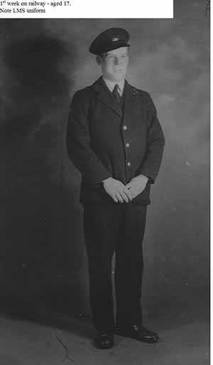 First on the railway aged 17. Note LMS uniform