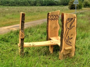 Carved bench  by Luke and Ed A